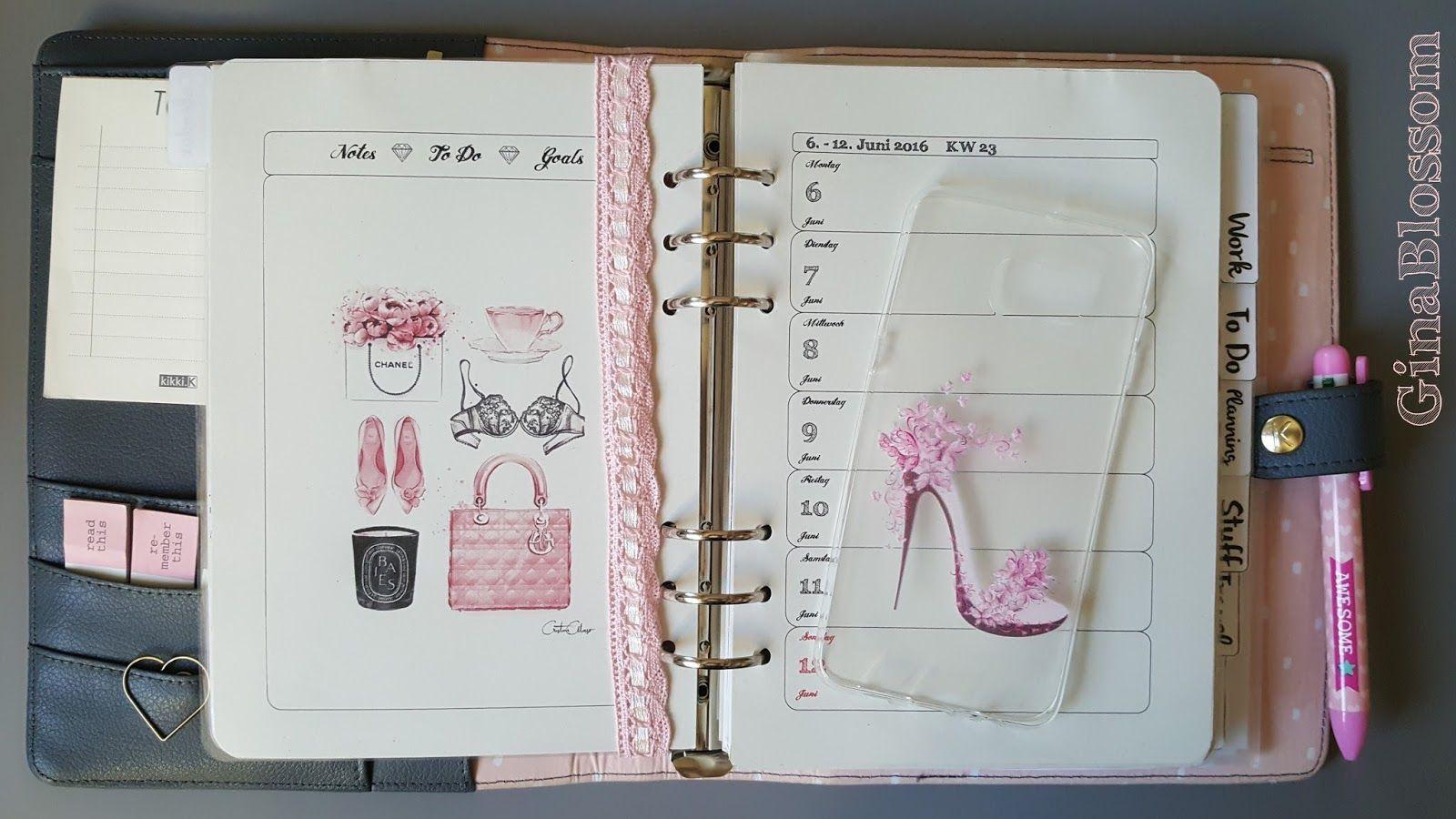 the blossom\'s place: Filofaxing Kikki K Dekoration KW 23 - Pink Lady ...