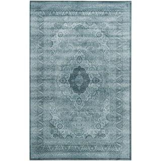 Safavieh Vintage Light Blue/ Dark Blue Viscose Rug (8' x 11') - Overstock™ Shopping - Great Deals on Safavieh 7x9 - 10x14 Rugs