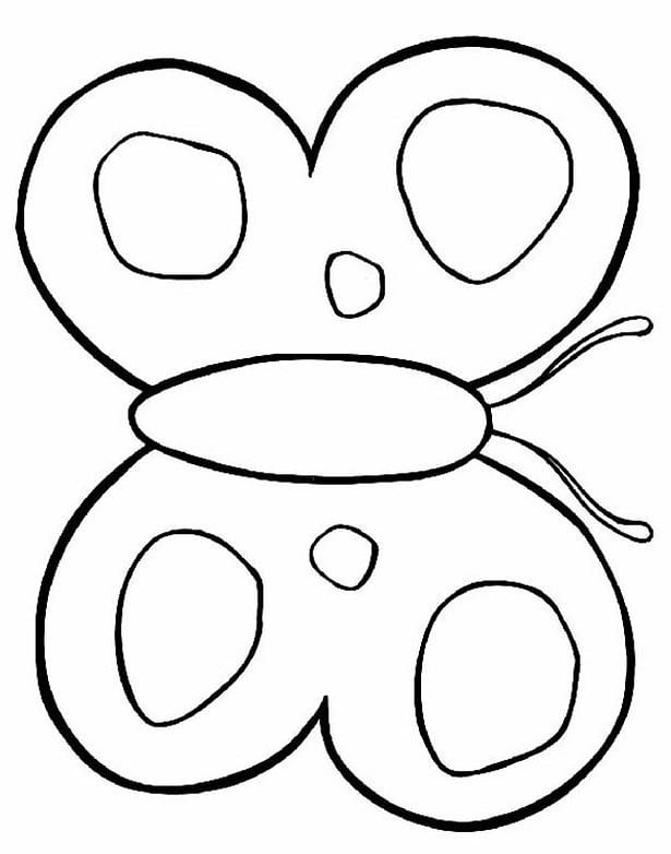 Butterfly Coloring Pages For Preschool in 2020 | Butterfly ...