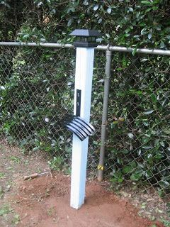 I did it! Water hose holder for the garden