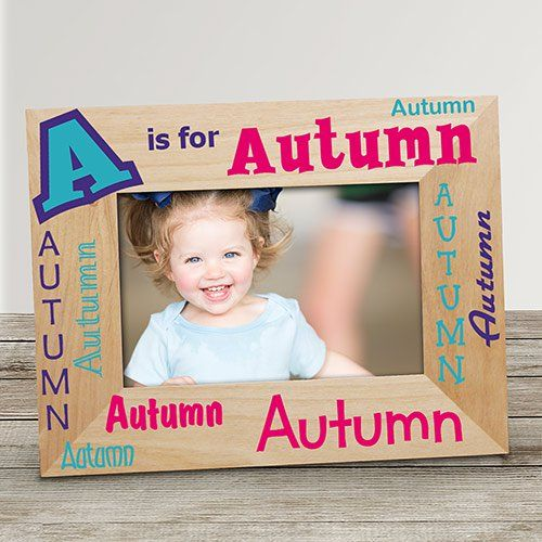Personalized Alphabet Name Wood Frame Grands Frame Alphabet