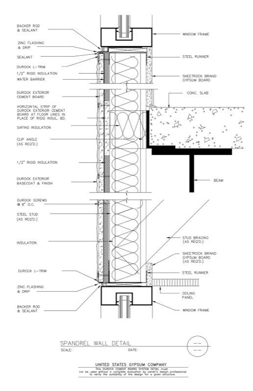 Pin By Archistructures On Construction Details Curtain Wall Detail Wall Section Detail Frames On Wall