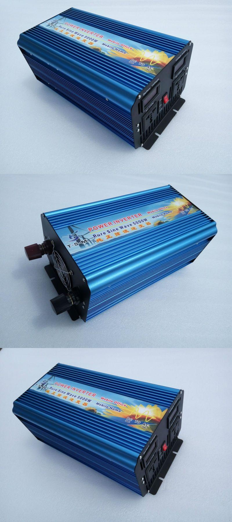 5000w10000w Peak Off Grid Inverter Pure Sine Wave Solar Dc Ac On 5000w 12 24 48v To 100 110 120 220 230 240v