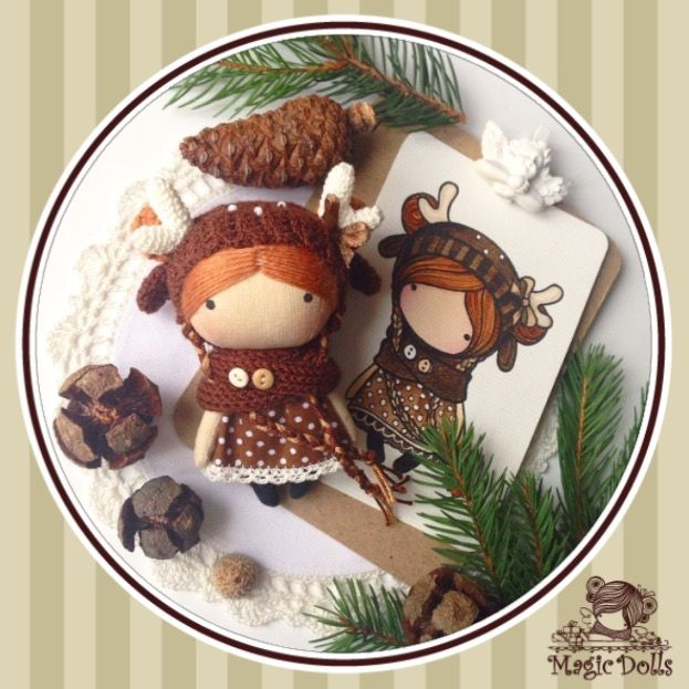 Ma Petite Poupee - Deer • available/ в наличии •Size 3,54 inches/ Размер 9 см