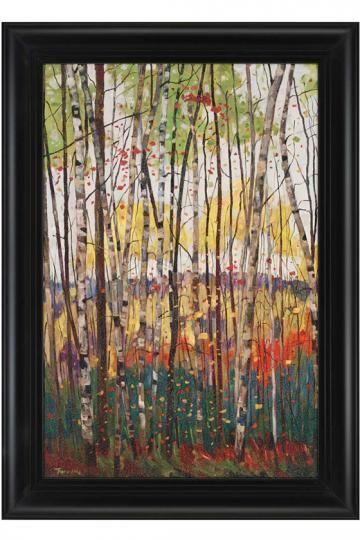 Voile De Montogne Wall Art Tree Landscape Framed Prints Homedecorators