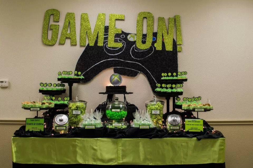Xbox Candy Buffet Table Setup My Candy Buffet Tags