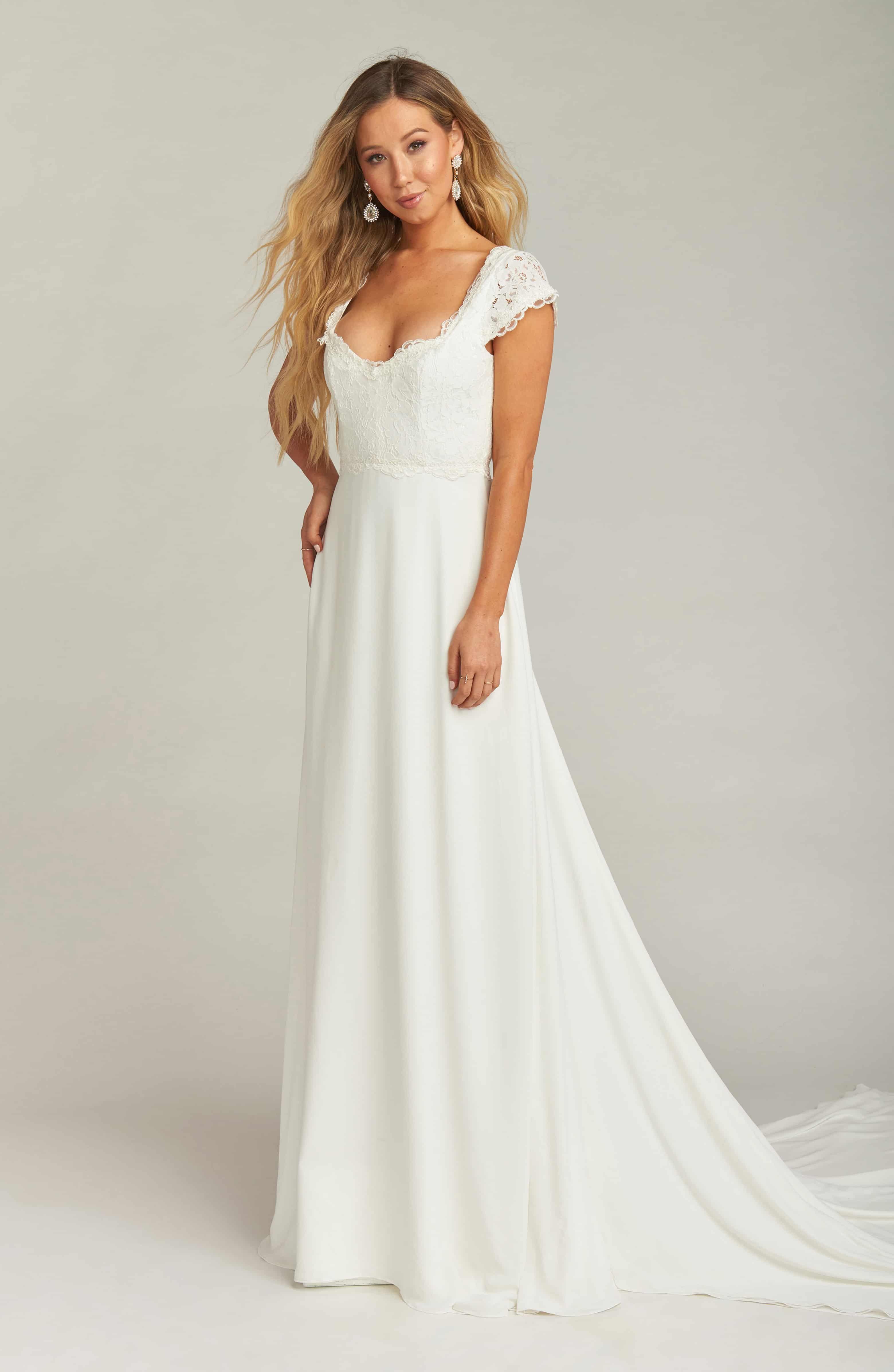 Show Me Your Mumu Chantel Lace Bodice Cap Sleeve Wedding