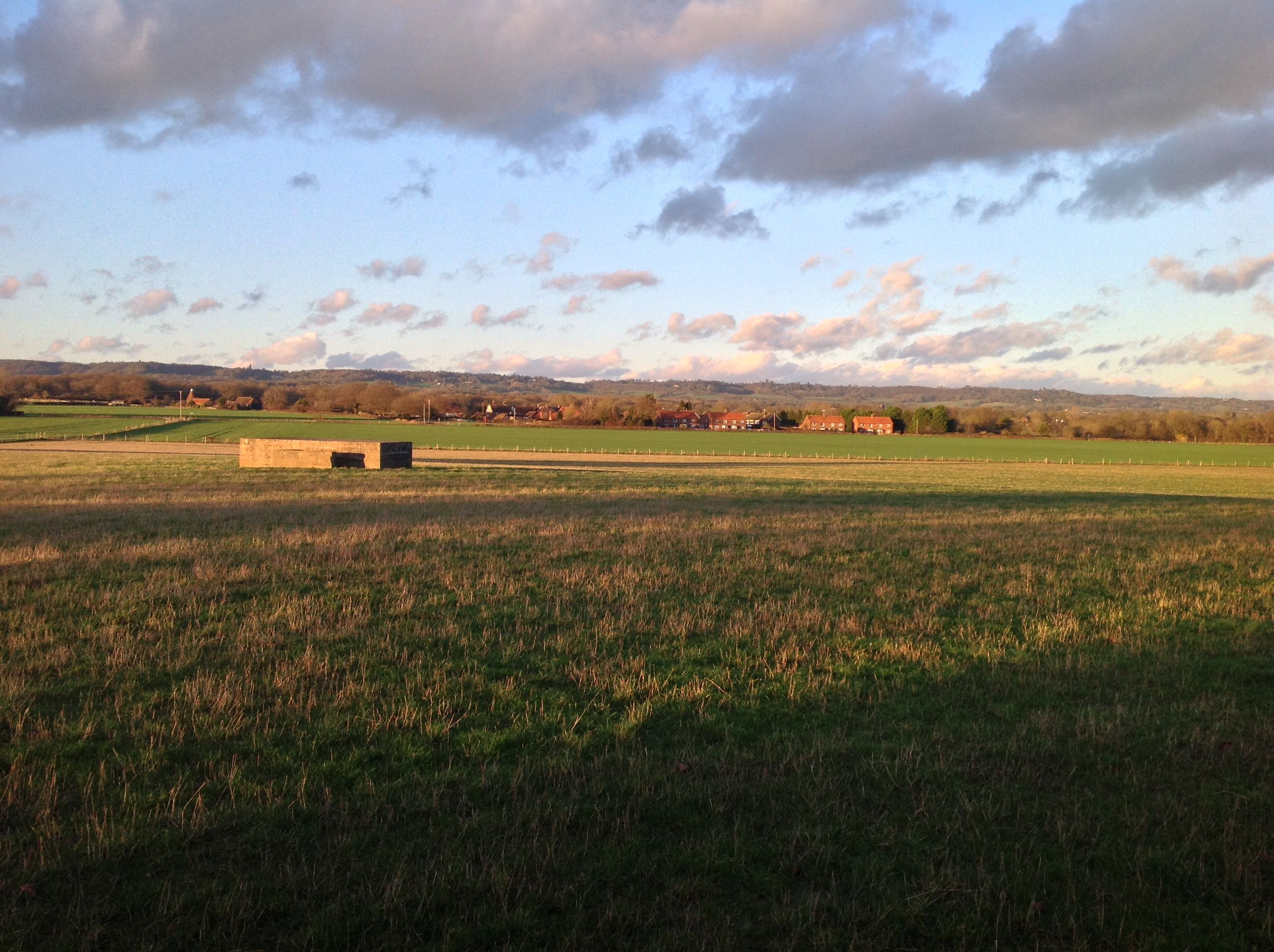 View of Charcott across the old aerodrome. 3.1.15