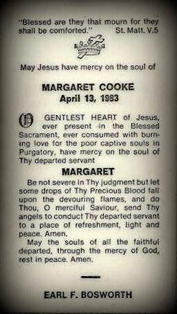 "Stone Gardens: Funeral Card Friday - Margaret ""Gret"" Cooke #genealogy #familyhistory"