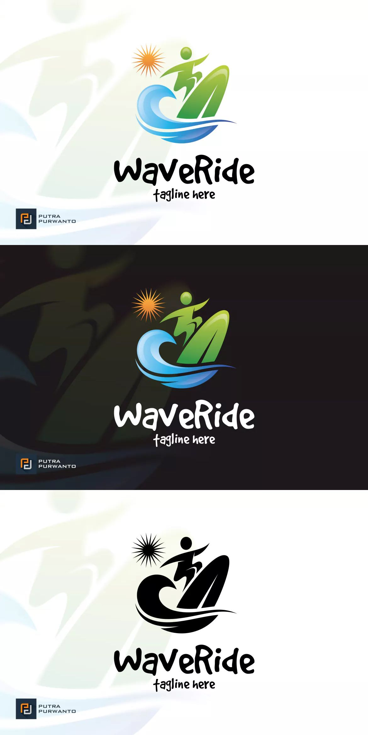 Wave Ride Logo Template by putra_purwanto on Logo