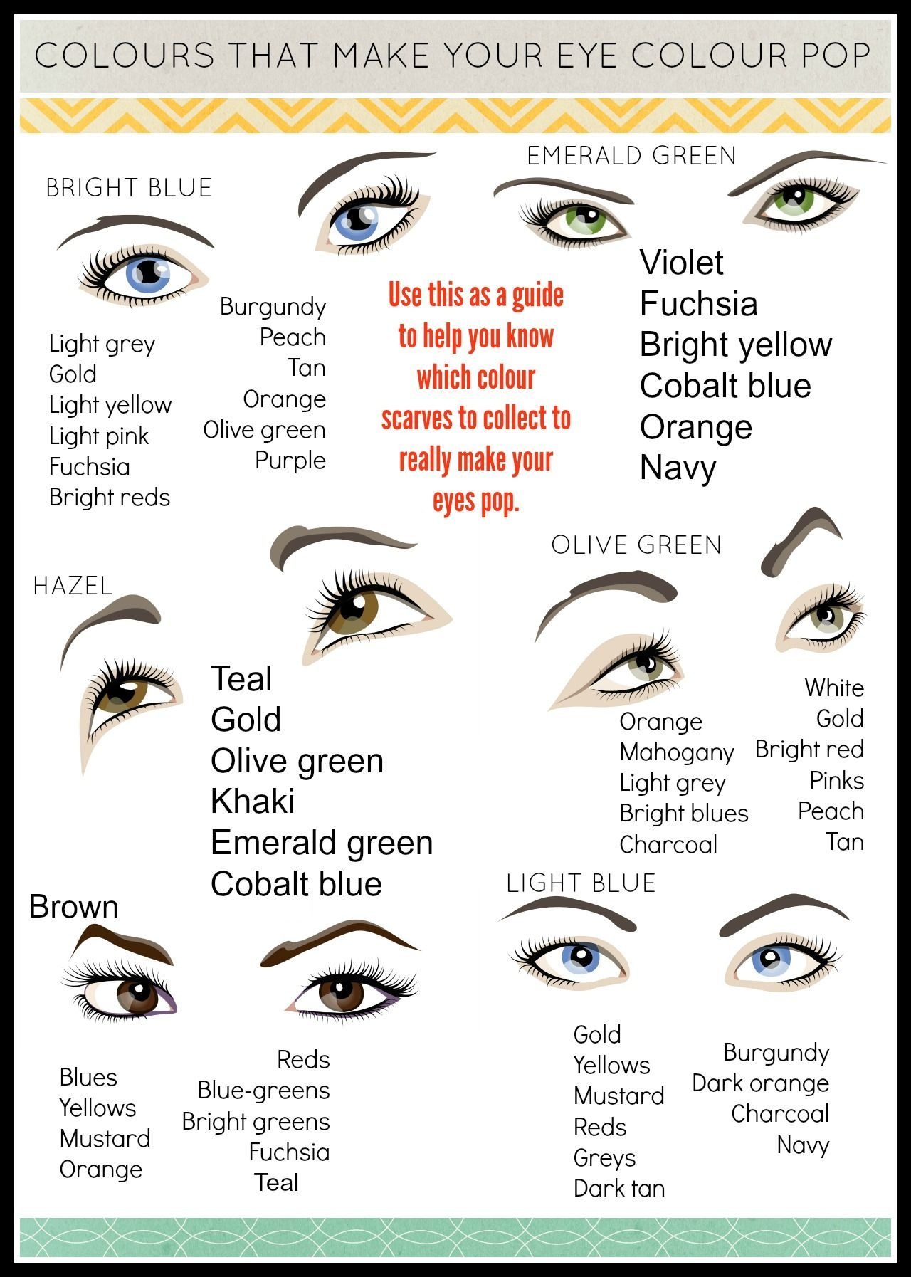 scarf colours to bring out your eyes | green eyes pop, olive