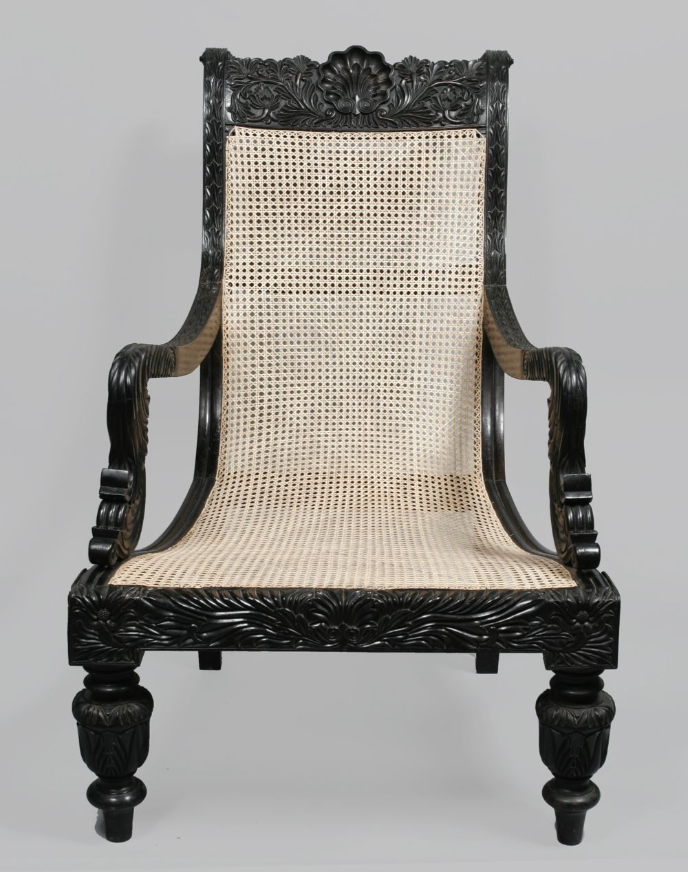 Ebony easy chair, Sri Lanka, Galle, mid 19th century from