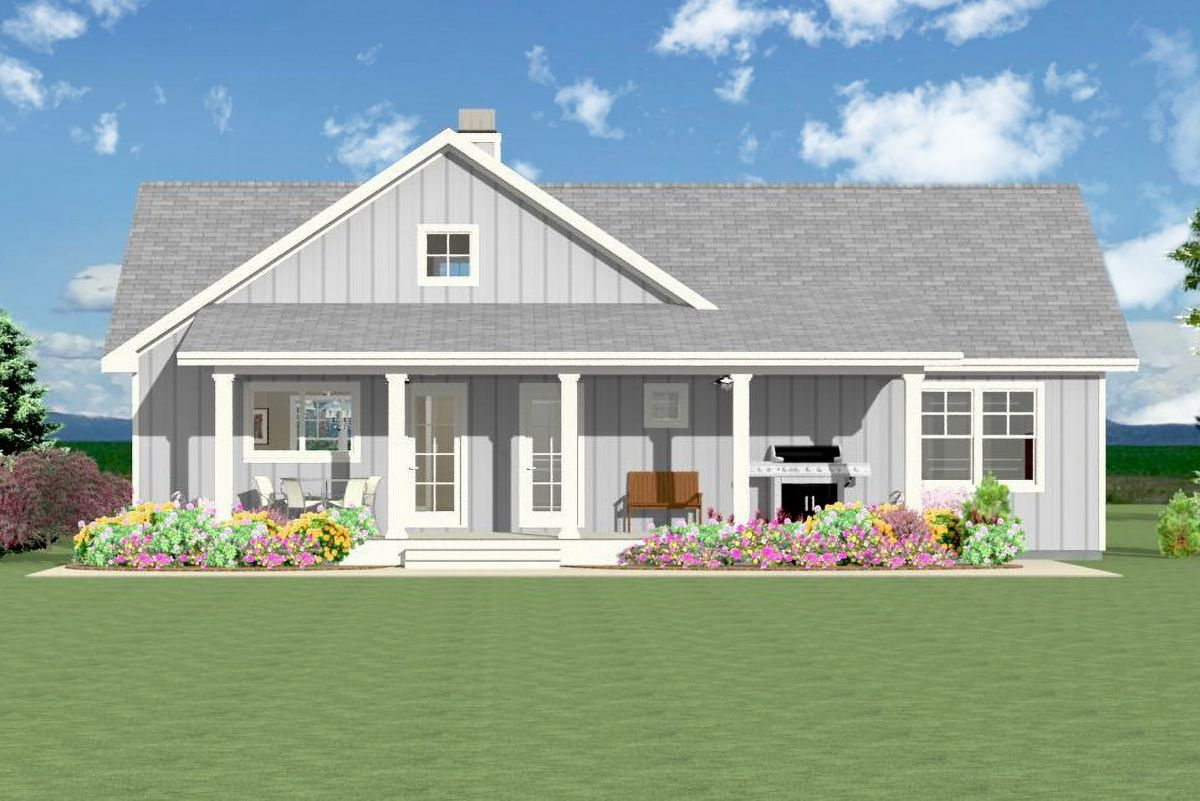 Plan 28920jj Open 3 Bedroom With Farmhouse Charm Simple