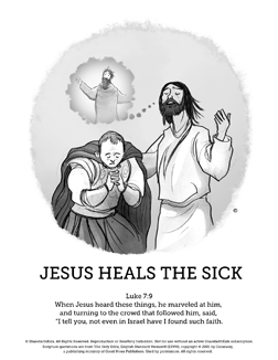Jesus Heals The Sick Sunday School Coloring Pages The Jesus Heals