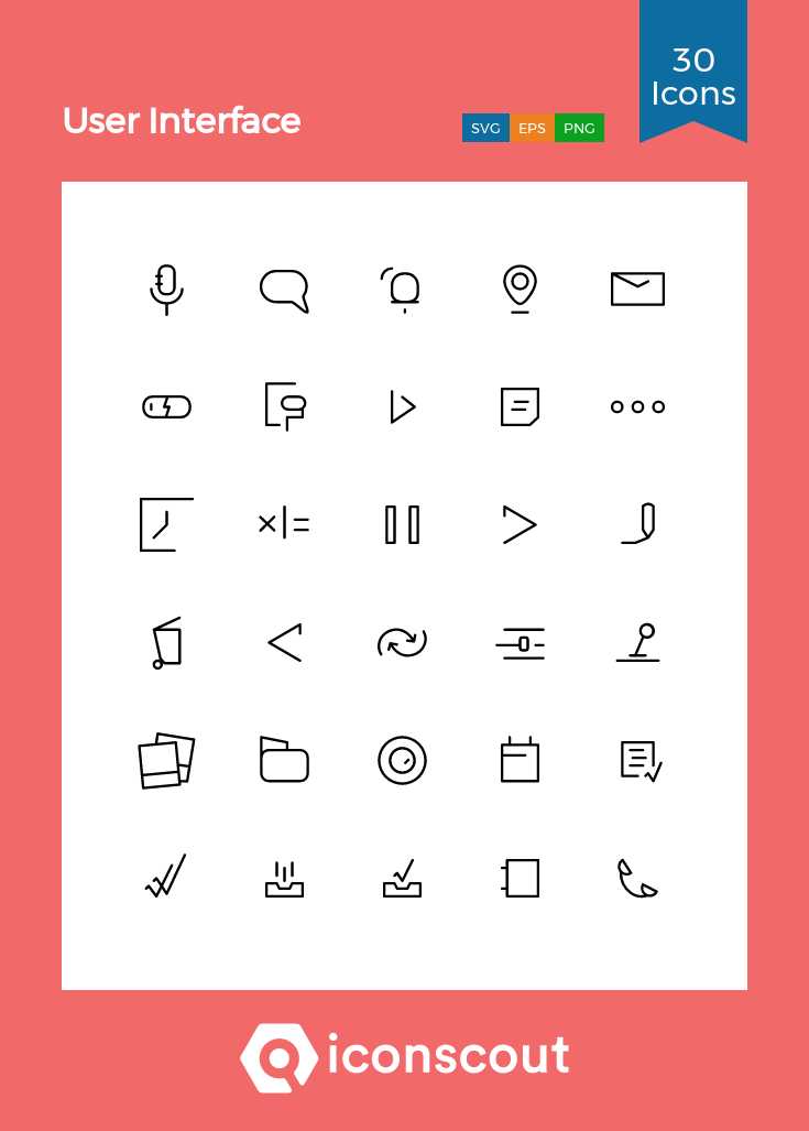 Download User Interface Icon Pack Available In Svg Png Eps Ai Icon Fonts User Interface Icon Pack Icon