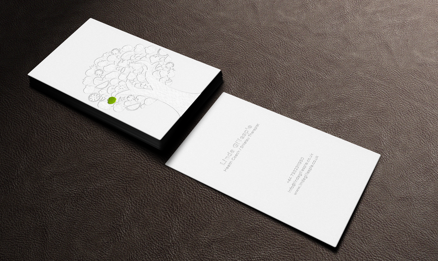 Beautiful business card for fledgling holistic health business by ...