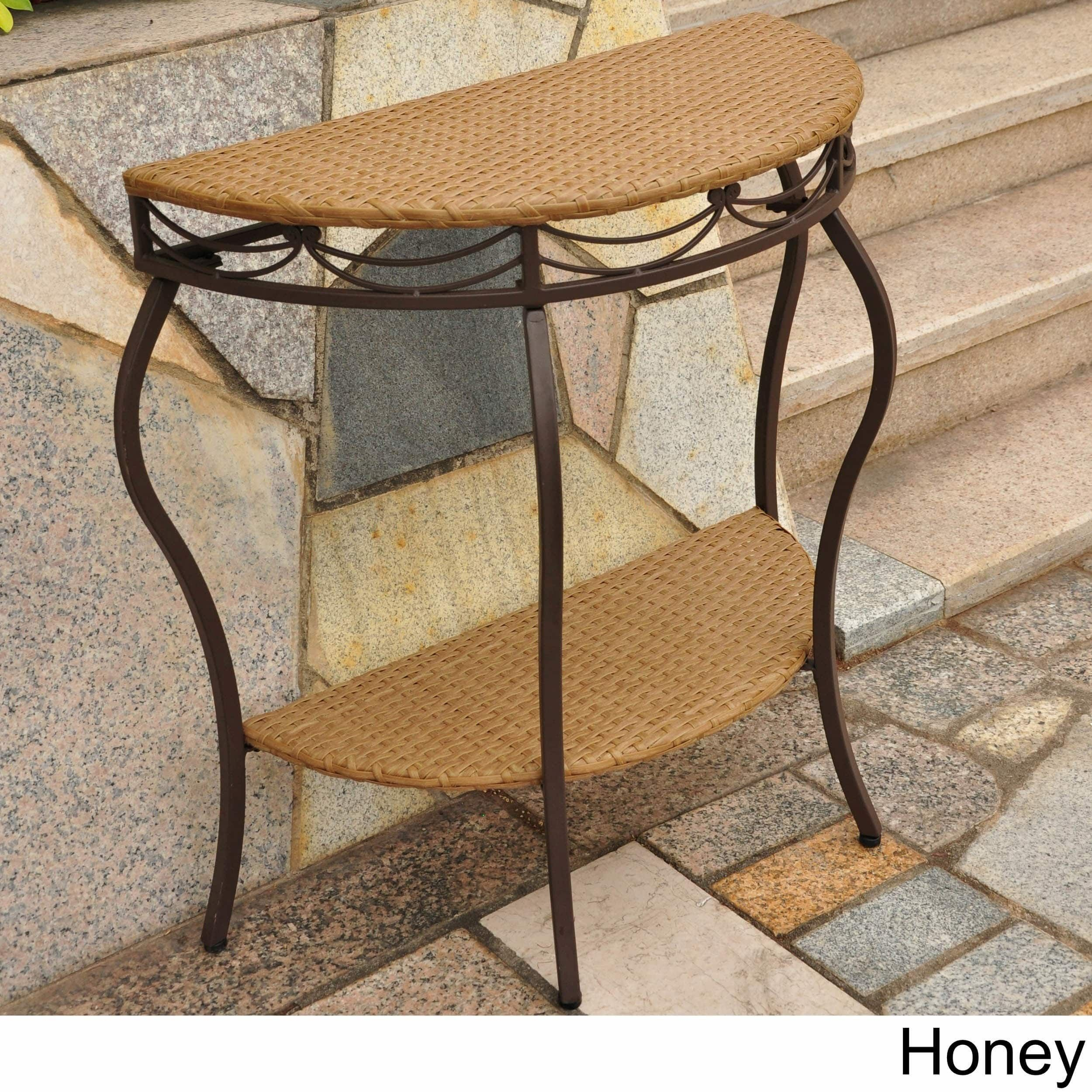Awesome International Caravan Valencia Resin Wicker Outdoor Half Cjindustries Chair Design For Home Cjindustriesco