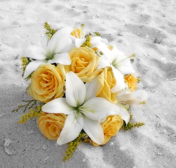 Wedding Flowers Yellow Roses: Image Detail For -Bouquets: Round Bouquet With White