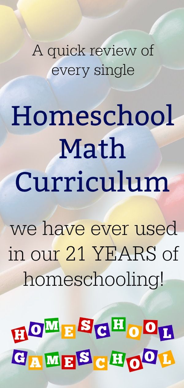 Every Homeschool Math Curriculum We've Ever Used