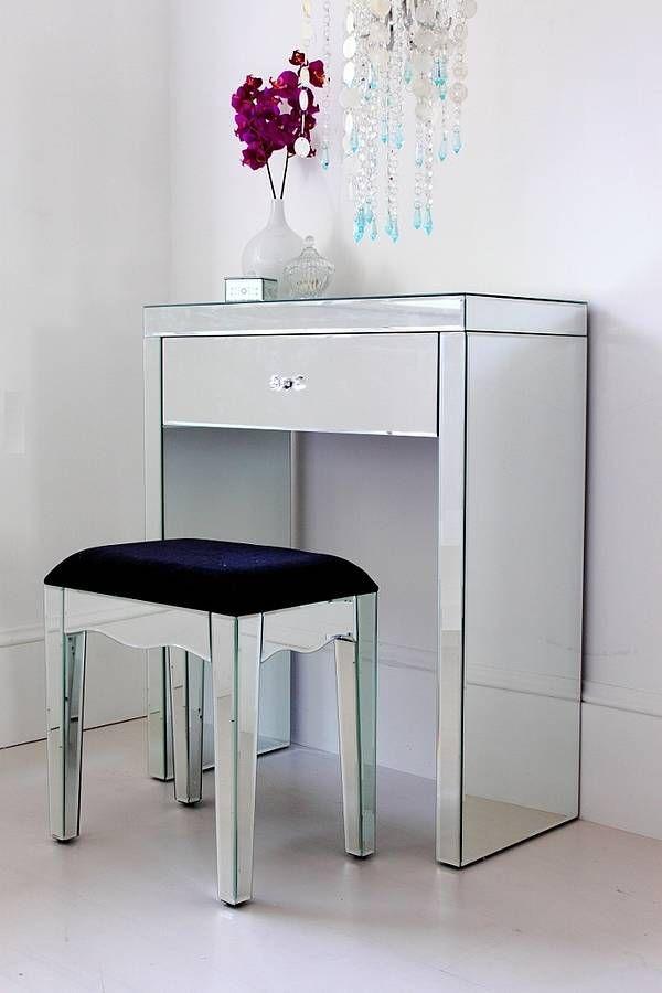 Mini Mirrored Dressing Table Small Vanity Table Mirrored Vanity