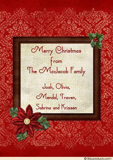 Christmas Card Inside Message Ideas  Google Search  Christmas