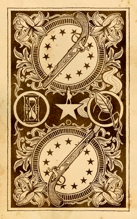 made this for the back of my hamilton playing cards, im p happy with ...