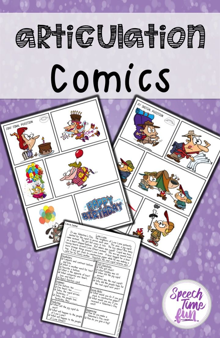 Articulation Comics - no prep fun for mixed speech and language therapy groups