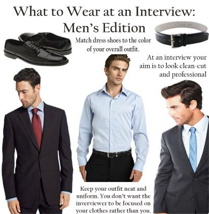 What to Wear at a Job Interview (Male) http//www.cpsprofessionals.com/ | Fashion for Men ...