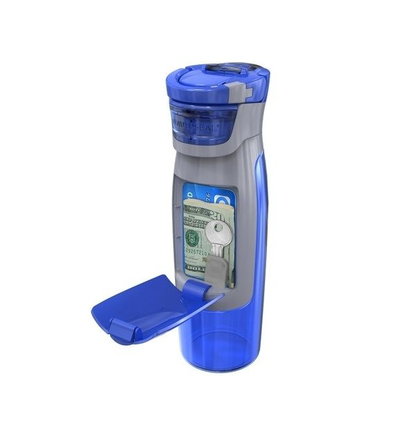 Gym water bottle with wallet!