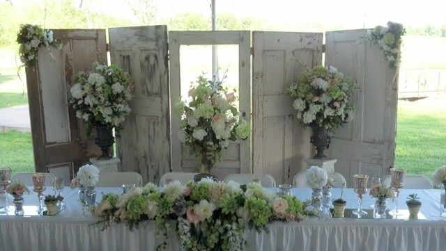 Down The Aisle Head Table Or Sweetheart Table: Elegant Vintage Winery Wedding.....using Old Doors As