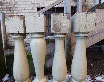 Best Four Old Wood Balusters Architectural Salvage Chunky Table 400 x 300