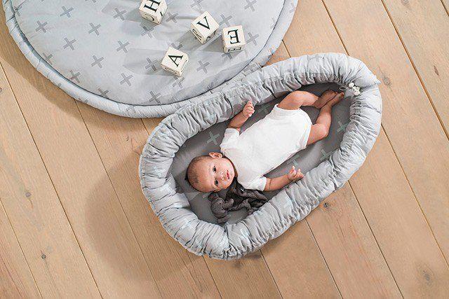 86478c80585 JOLLEIN Hnízdo - Babynest Grey