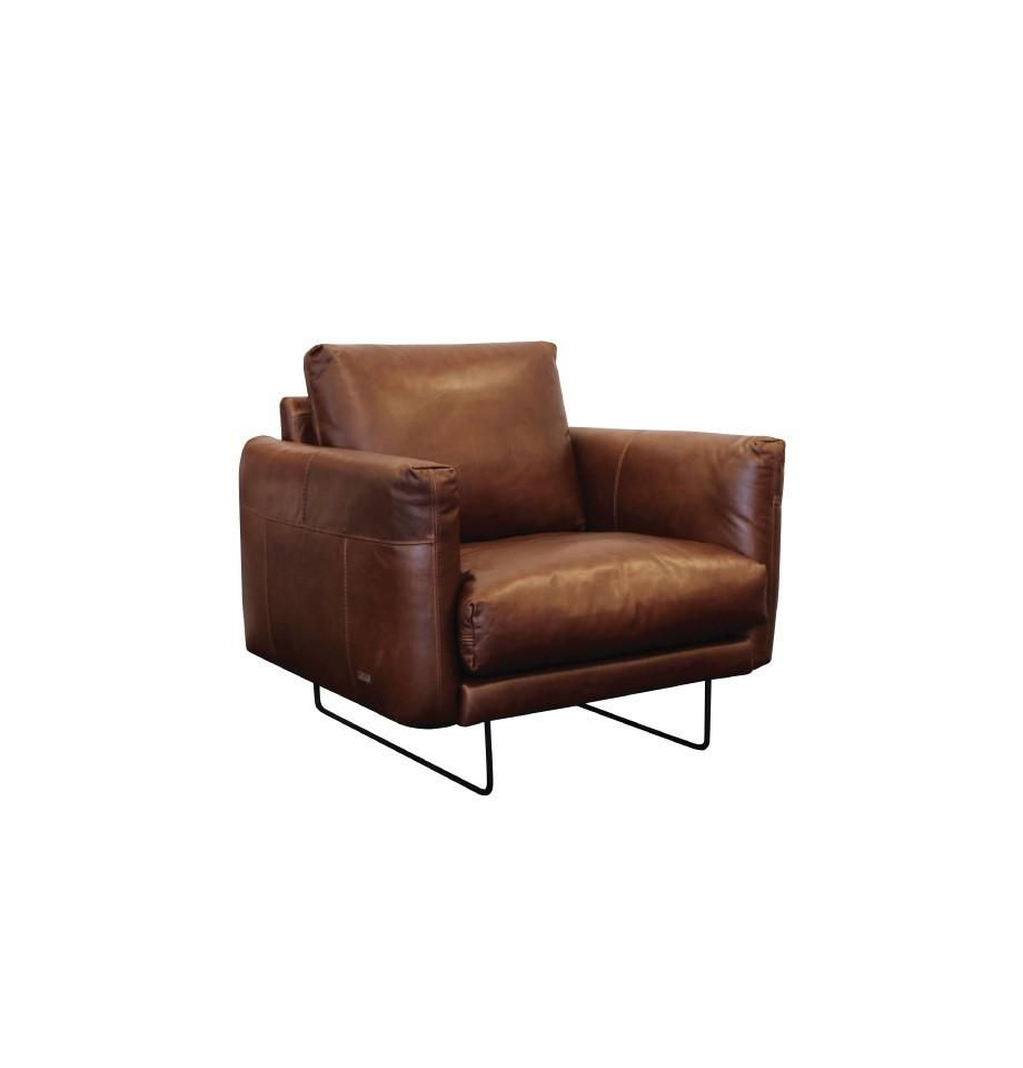 Gatsby Chair Cat 18 Leather New Galway Chocolate Brown