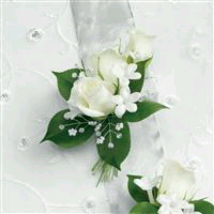 More white corsage options white wedding flowers