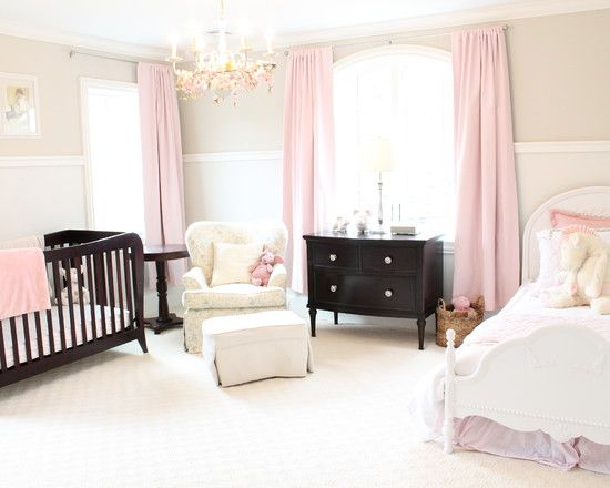 Traditional Baby Nursery As Pottery Barn Baby Nursery With Pink