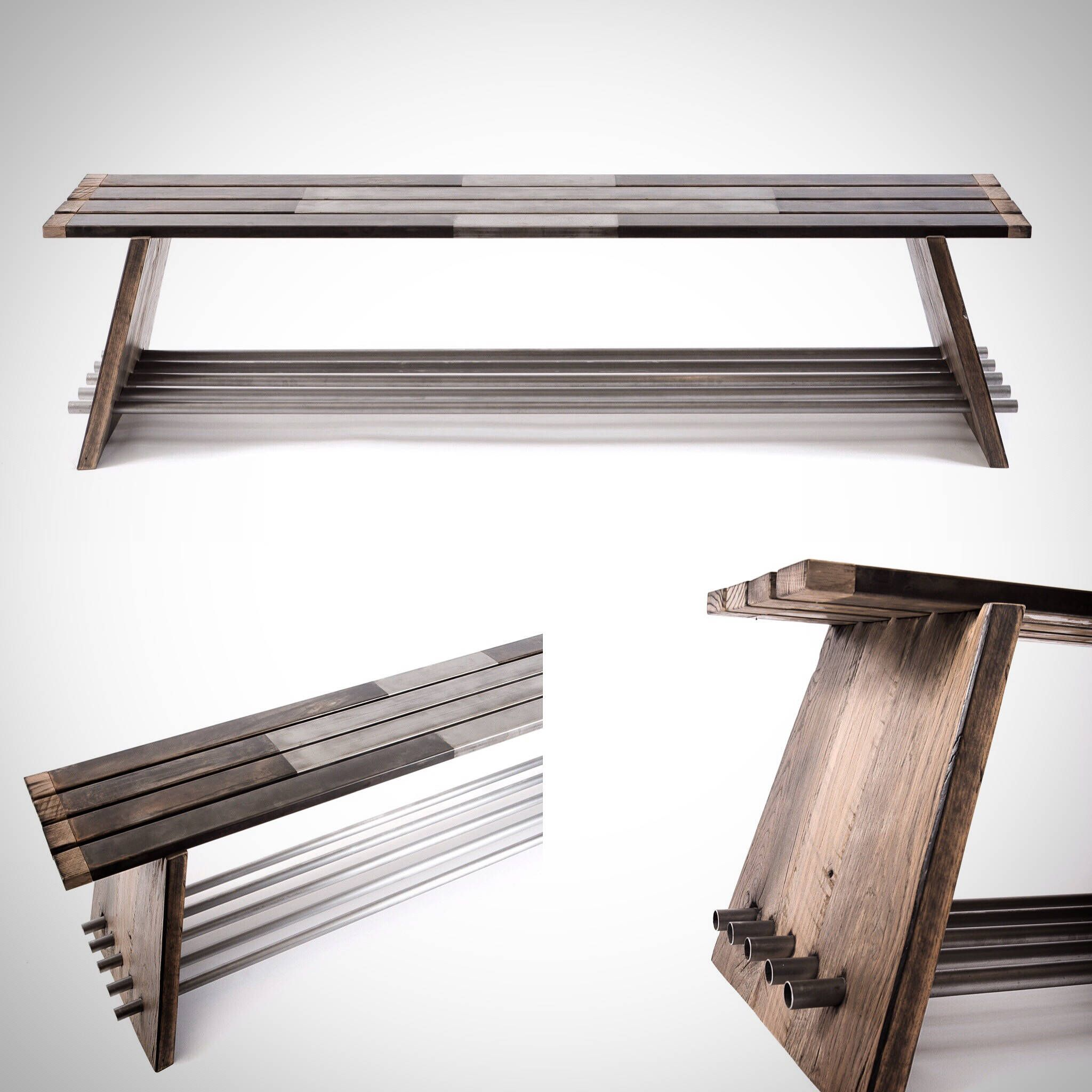 Entryway Bench, Storage Bench, Shoe bench, Industrial