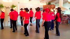 rhinestone cowboy line dance - YouTube