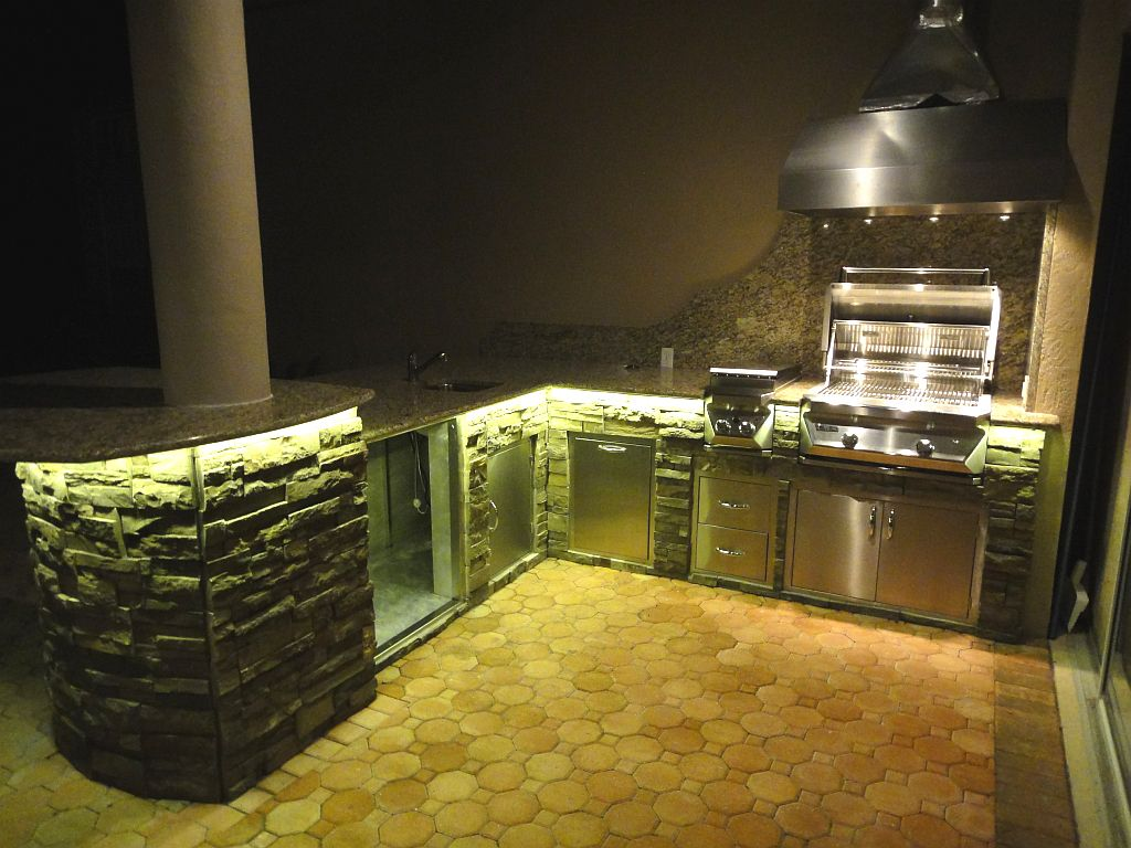 image result for lighting on an outdoor kitchen outdoor kitchens