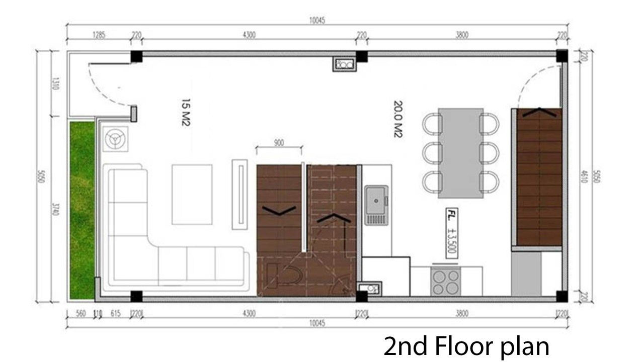 Narrow Lot House Plans 5x9 5m With 4 Bedrooms Samphoas Plan Narrow Lot House Plans Narrow Lot House House Plans