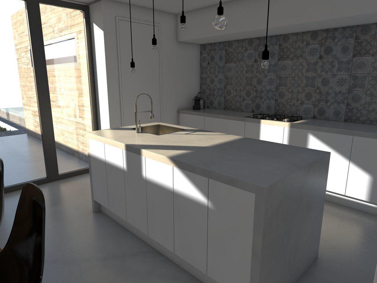 doorlopend blad als idee afsluiting keuken richting woonkamer ...