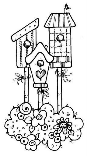 bird houses Coloring Pages