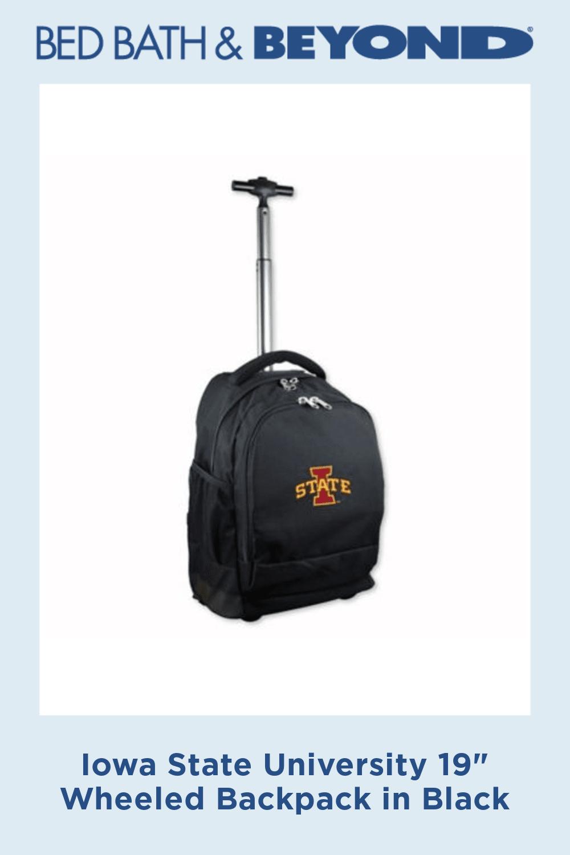 Iowa State University 19 Wheeled Backpack in Black #iowastateuniversity Iowa State University 19 Wheeled Backpack in Black #iowastateuniversity