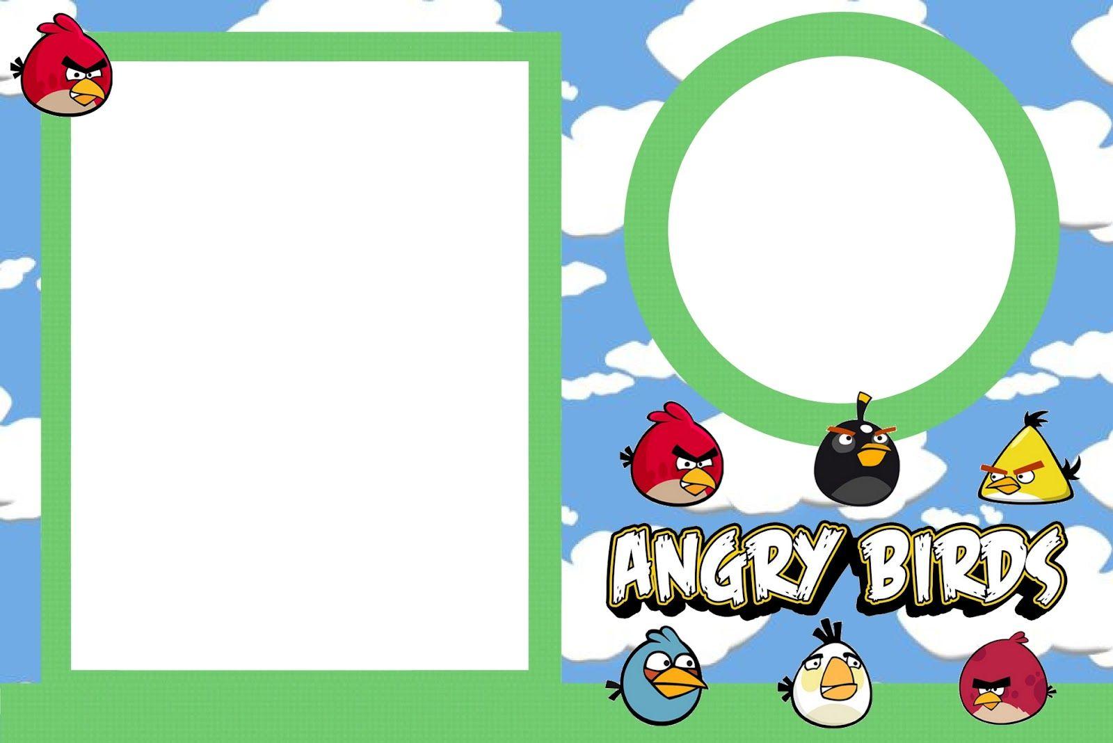 Angry Birds - Kit Completo com molduras para convites, rótulos ...
