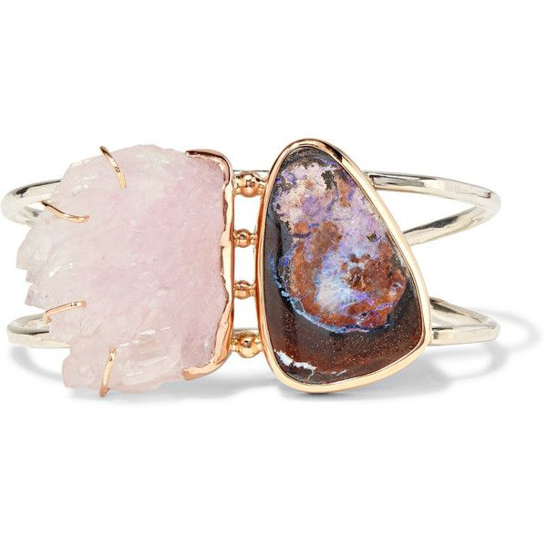 14-karat Gold, Sterling Silver And Multi-stone Cuff - one size Melissa Joy Manning