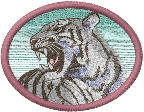 Tribal Tiger Photo Stitch Free Embroidery Design Photo Stitch Tiger