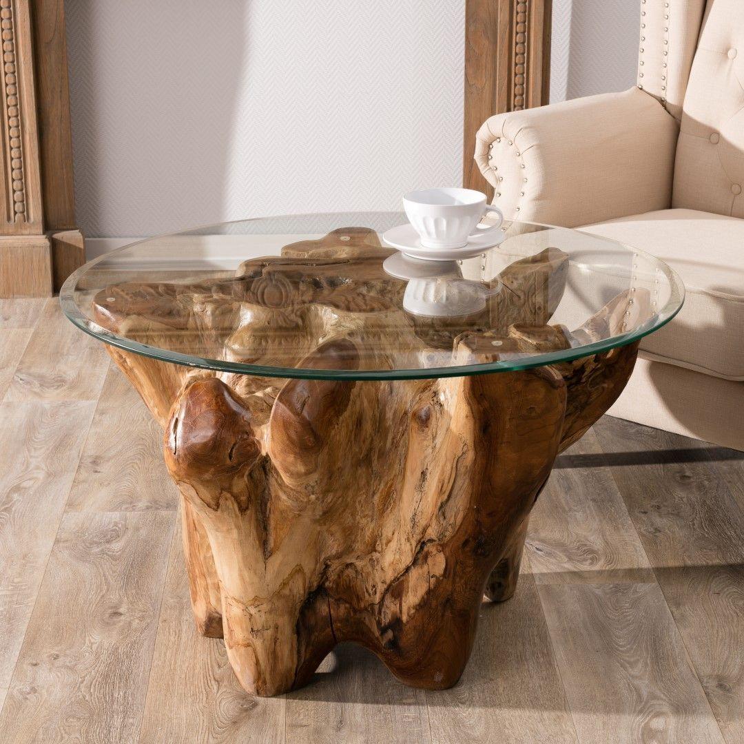 Stolik Kawowy Tual 80x80x56cm 80x80x56cm Unusual Furniture Decor Dekoria