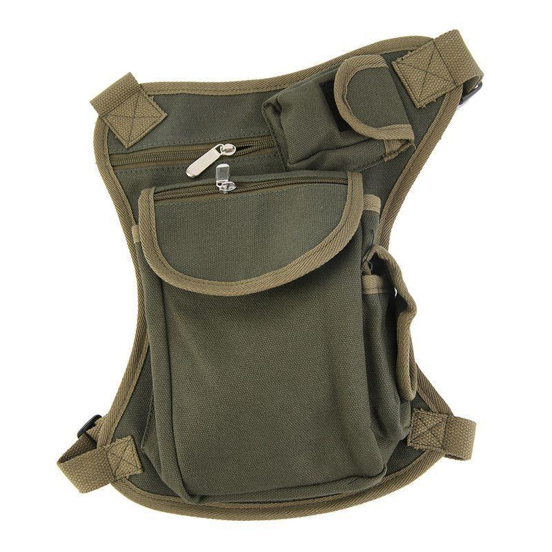 New Canvas Military Tactical Travel Hiking Thigh Drop Leg Bag