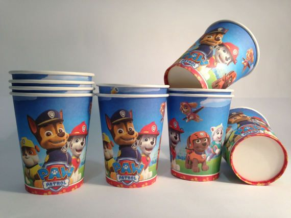 Paw Patrol Paper cups 10 pcs. Paper cups for childrenu0027s & Paw Patrol Paper cups 10 pcs. Paper cups for childrenu0027s | for ...