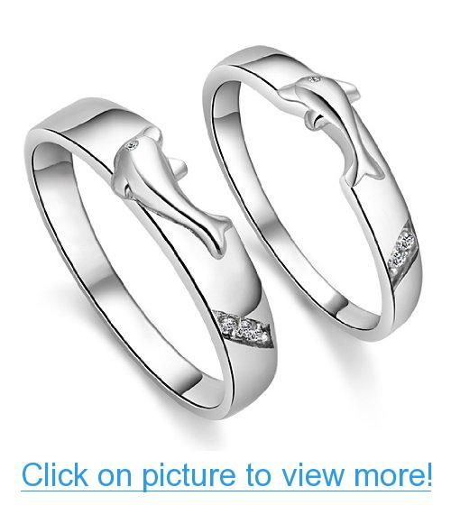 Geminis Jewelry New Fashion Dolphin Lovers Platinum Plated In Copper Wedding Band Anniversary Engagement