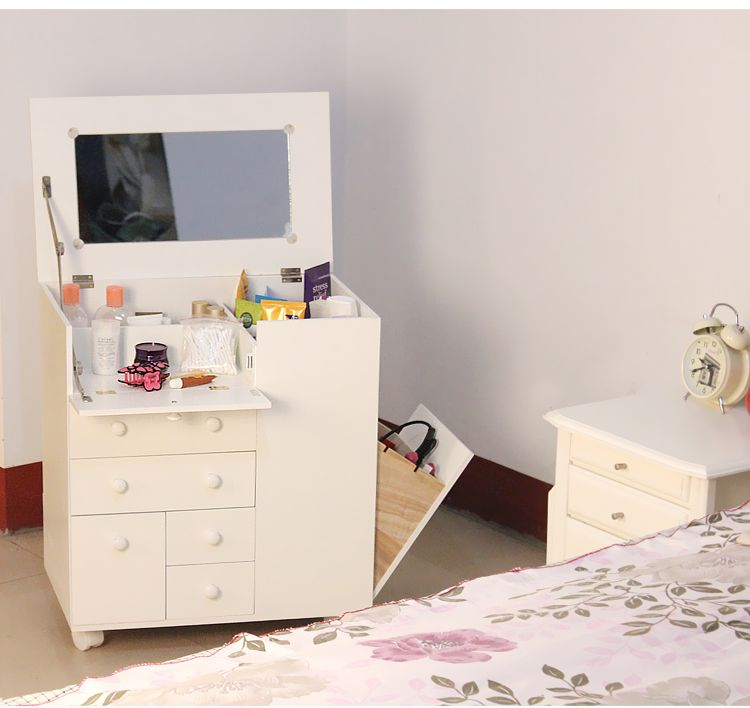 Awesome Solid Wood Furniture Japanese Multi Functional Cosmetic Cabinet Dresser  White Storage Box Mobile Cabinet With